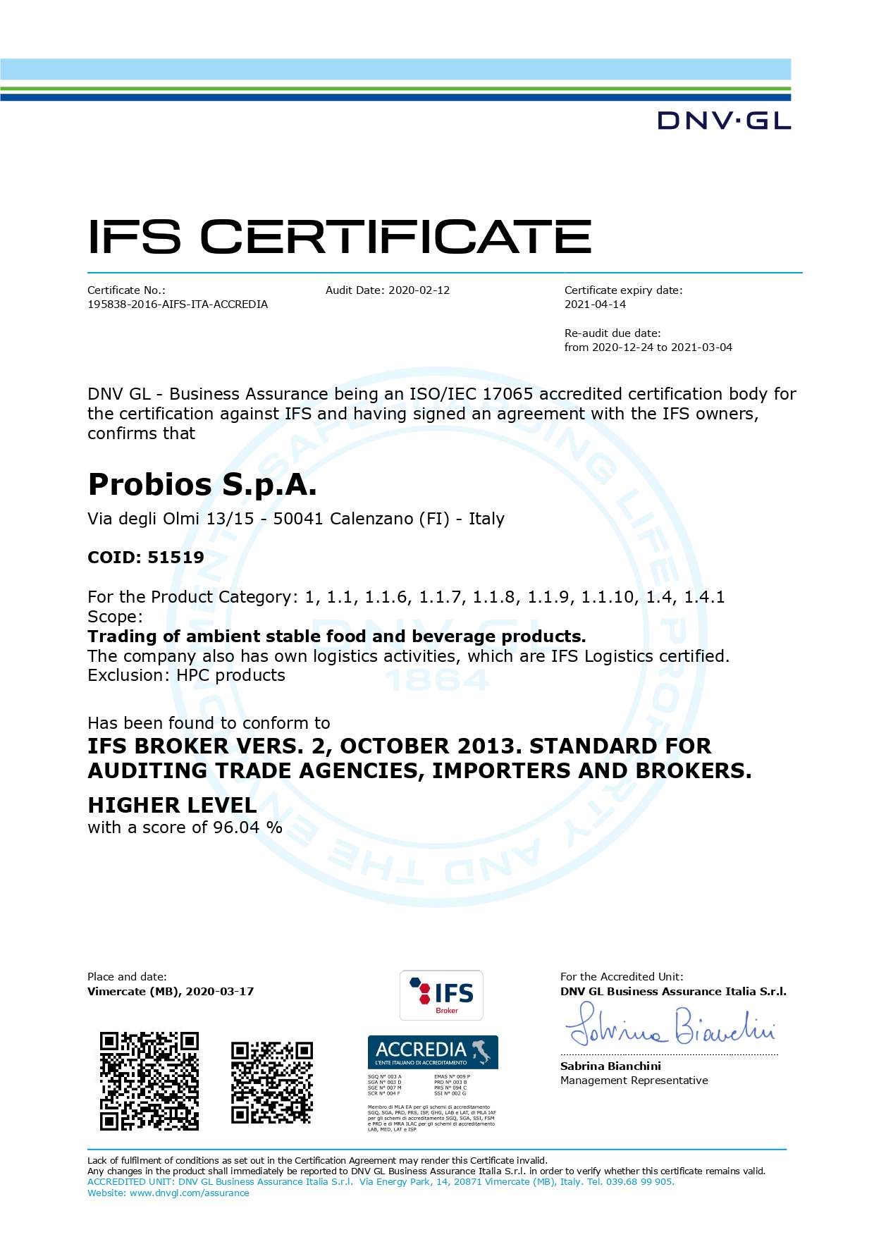 IFS Brokers – Probios