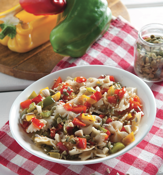 butterflies-pasta-salad-peppers-dried-fruit