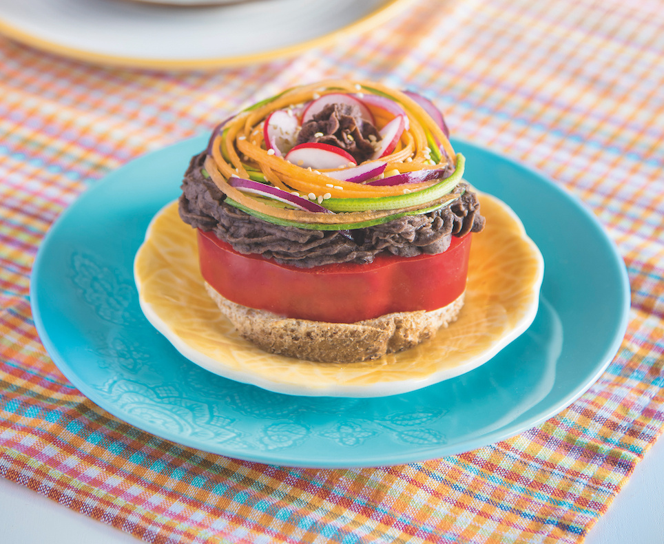 colorful-millefeuille-beans-summer-vegetables