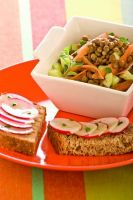 Lentil Salad with Marjoram and Toast