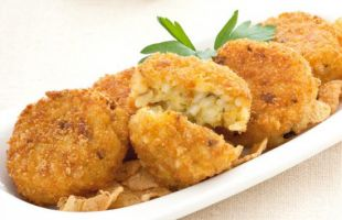 Rice Croquettes with Curry Mushrooms