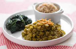 Curry Peas with Basmati Rice and Black Kale