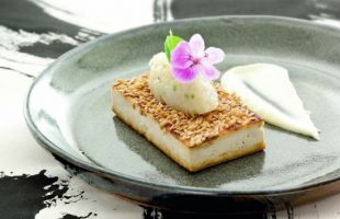 Crusted Tofu with Soy Mayonnaise and Chutney